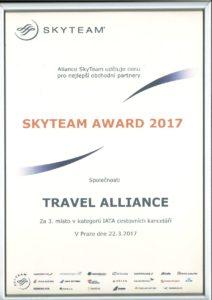 Cena Skyteam 2016